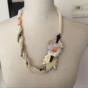 Handcrafted Abalone Shell Statement Necklace